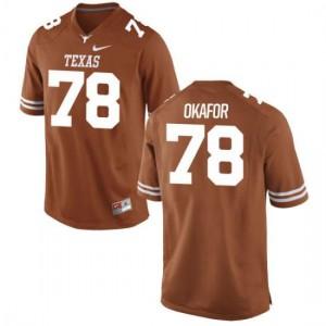 Women Texas Longhorns Denzel Okafor #78 Authentic Tex Orange Football Jersey 807830-342