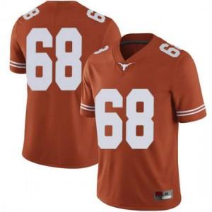 Men Texas Longhorns Derek Kerstetter #68 Limited Orange Football Jersey 454880-294