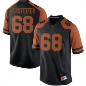 Men Texas Longhorns Derek Kerstetter #68 Replica Black Football Jersey 663635-200