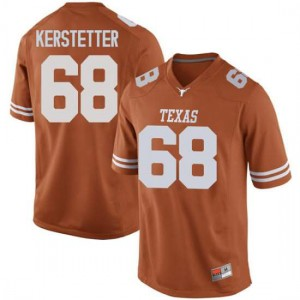 Men Texas Longhorns Derek Kerstetter #68 Replica Orange Football Jersey 909357-926