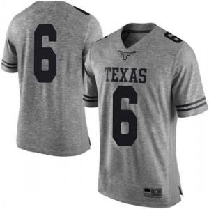 Men Texas Longhorns Devin Duvernay #6 Limited Gray Football Jersey 256808-434