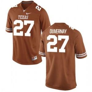 Men Texas Longhorns Donovan Duvernay #27 Authentic Tex Orange Football Jersey 497234-938