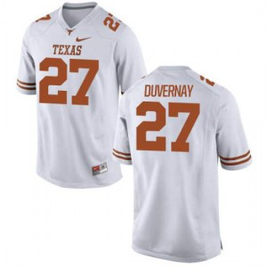 Women Texas Longhorns Donovan Duvernay #27 Authentic White Football Jersey 536327-423
