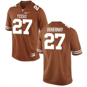 Youth Texas Longhorns Donovan Duvernay #27 Authentic Tex Orange Football Jersey 436339-712