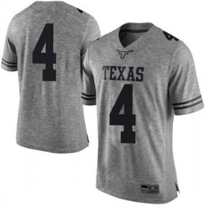 Men Texas Longhorns Drayton Whiteside #4 Limited Gray White Football Jersey 165330-377