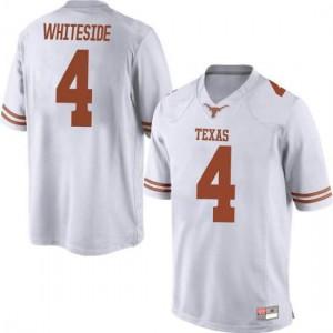 Men Texas Longhorns Drayton Whiteside #4 Replica White Football Jersey 544286-566