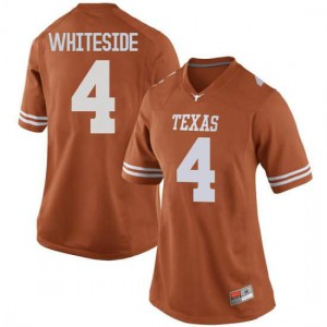 Women Texas Longhorns Drayton Whiteside #4 Game Orange Football Jersey 294414-599