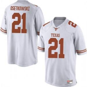 Men Texas Longhorns Dylan Osetkowski #21 Game White Football Jersey 923403-244