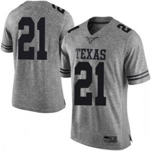 Men Texas Longhorns Dylan Osetkowski #21 Limited Gray Football Jersey 878779-215