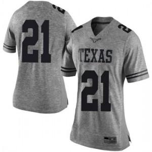 Women Texas Longhorns Dylan Osetkowski #21 Limited Gray Football Jersey 374879-187