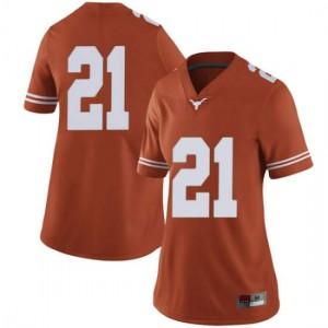 Women Texas Longhorns Dylan Osetkowski #21 Limited Orange Football Jersey 521345-266