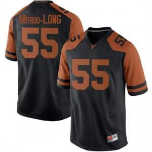 Men Texas Longhorns Elijah Mitrou-Long #55 Replica Black Football Jersey 394124-794
