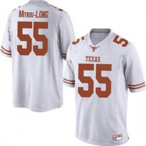 Men Texas Longhorns Elijah Mitrou-Long #55 Replica White Football Jersey 736889-738