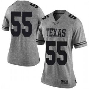 Women Texas Longhorns Elijah Mitrou-Long #55 Limited Gray Football Jersey 411955-246