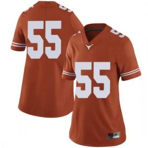 Women Texas Longhorns Elijah Mitrou-Long #55 Limited Orange Football Jersey 667484-197