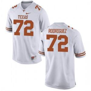 Men Texas Longhorns Elijah Rodriguez #72 Authentic White Football Jersey 858164-541