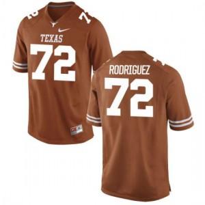 Women Texas Longhorns Elijah Rodriguez #72 Authentic Tex Orange Football Jersey 163897-552