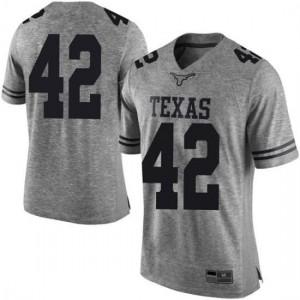 Men Texas Longhorns Femi Yemi-Ese #42 Limited Gray Football Jersey 752483-147