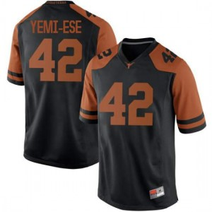 Men Texas Longhorns Femi Yemi-Ese #42 Replica Black Football Jersey 166933-816