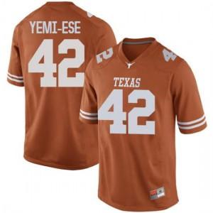 Men Texas Longhorns Femi Yemi-Ese #42 Replica Orange Football Jersey 163081-796