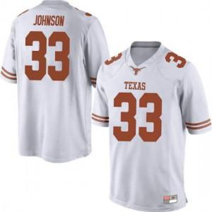 Men Texas Longhorns Gary Johnson #33 Game White Football Jersey 178996-680