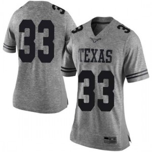 Women Texas Longhorns Gary Johnson #33 Limited Gray Football Jersey 458332-564