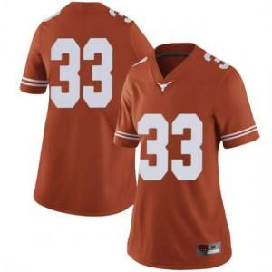 Women Texas Longhorns Gary Johnson #33 Limited Orange Football Jersey 333634-227