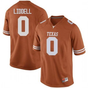 Men Texas Longhorns Gerald Liddell #0 Game Orange Football Jersey 779756-448