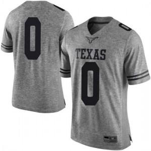 Men Texas Longhorns Gerald Liddell #0 Limited Gray Football Jersey 384827-647