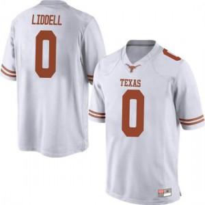 Men Texas Longhorns Gerald Liddell #0 Replica White Football Jersey 244417-529