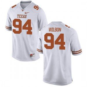 Men Texas Longhorns Gerald Wilbon #94 Authentic White Football Jersey 736091-602