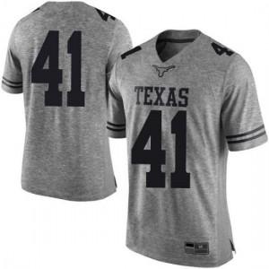 Men Texas Longhorns Hank Coutoumanos #41 Limited Gray Football Jersey 275270-972