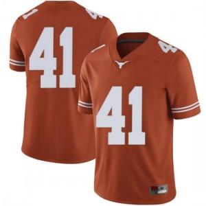 Men Texas Longhorns Hank Coutoumanos #41 Limited Orange Football Jersey 128815-924