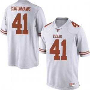 Men Texas Longhorns Hank Coutoumanos #41 Replica White Football Jersey 629087-837