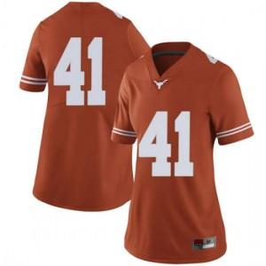 Women Texas Longhorns Hank Coutoumanos #41 Limited Orange Football Jersey 777787-734