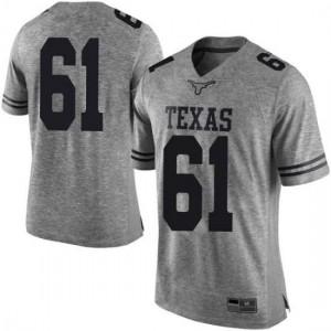 Men Texas Longhorns Ishan Rison #61 Limited Gray Football Jersey 812330-544