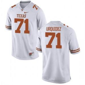 Women Texas Longhorns J.P. Urquidez #71 Game White Football Jersey 933782-868