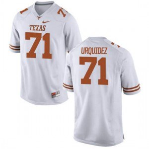 Youth Texas Longhorns J.P. Urquidez #71 Limited White Football Jersey 291601-712