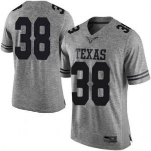 Men Texas Longhorns Jack Geiger #38 Limited Gray Football Jersey 519617-718