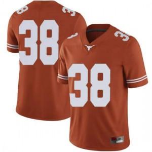 Men Texas Longhorns Jack Geiger #38 Limited Orange Football Jersey 655371-363