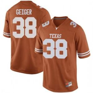 Men Texas Longhorns Jack Geiger #38 Replica Orange Football Jersey 953157-417