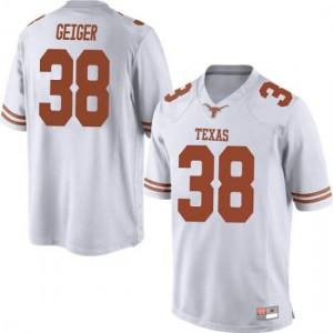Men Texas Longhorns Jack Geiger #38 Replica White Football Jersey 435161-168