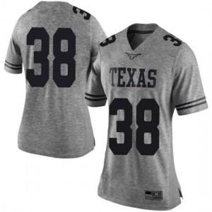 Women Texas Longhorns Jack Geiger #38 Limited Gray Football Jersey 828420-844