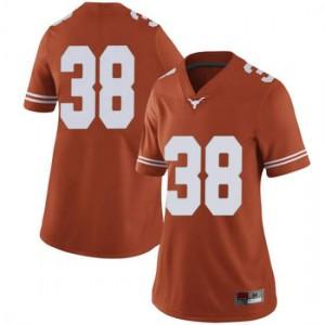 Women Texas Longhorns Jack Geiger #38 Limited Orange Football Jersey 272946-785