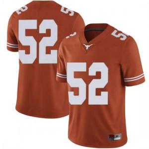 Men Texas Longhorns Jackson Hanna #52 Limited Orange Football Jersey 841320-763