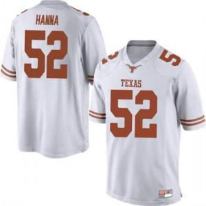 Men Texas Longhorns Jackson Hanna #52 Replica White Football Jersey 979971-627