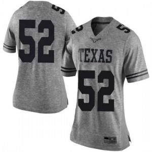 Women Texas Longhorns Jackson Hanna #52 Limited Gray Football Jersey 258225-323