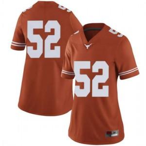 Women Texas Longhorns Jackson Hanna #52 Limited Orange Football Jersey 624246-409