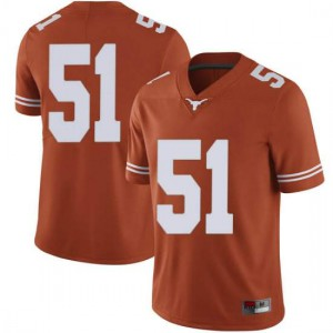 Men Texas Longhorns Jakob Sell #51 Limited Orange Football Jersey 680381-997