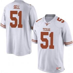 Men Texas Longhorns Jakob Sell #51 Replica White Football Jersey 965717-442